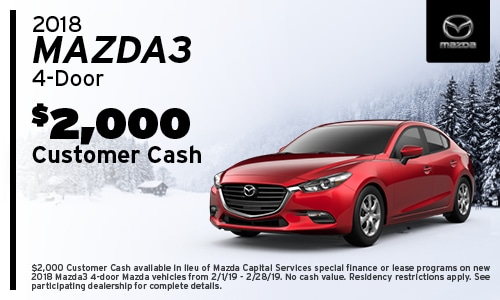 '18 Mazda3 Sedan Cash Offer