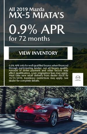 October All 2019 Mazda MX-5 Miata's Offer