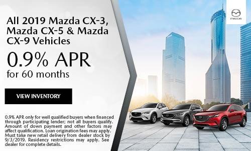August 2019 CX-3, CX-5 & CX-9 Finance Offer