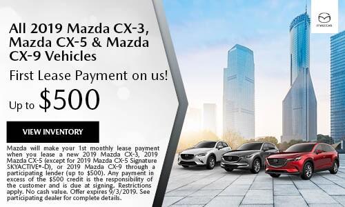 August CX-3, CX-5 & CX-9 First Payment Offer