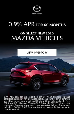 March New 2020 Mazda Vehicles Finance Offer