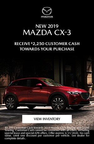 March New 2019 Mazda CX-3 Cash Offer