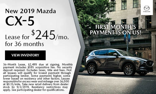 August 2019 Mazda CX-5 Lease Offer