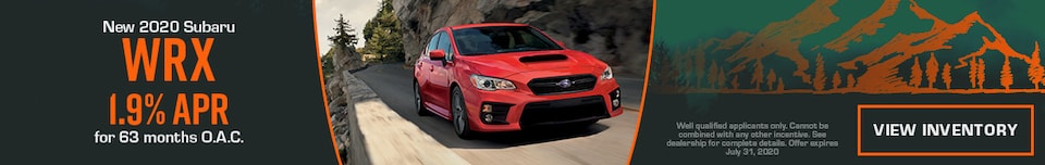 July New 2020 Subaru WRX Finance Offer