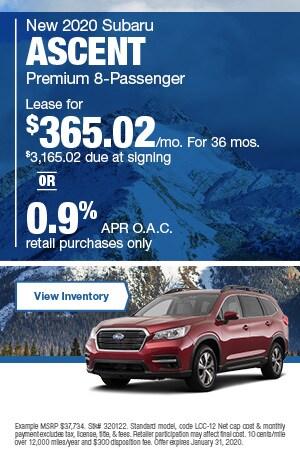 January New 2020 Subaru Ascent  Premium 8-Passenger Offers
