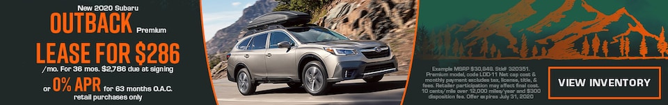 July New 2020 Subaru Outback Premium Offers