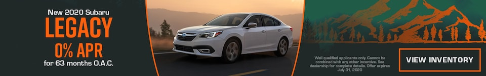 July New 2020 Subaru Legacy Finance Offer