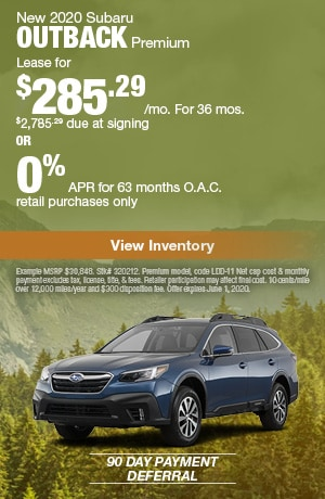 May New 2020 Subaru Outback Premium Offers