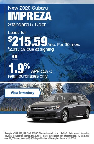 January New 2020 Subaru Impreza  Standard 5-Door Offers
