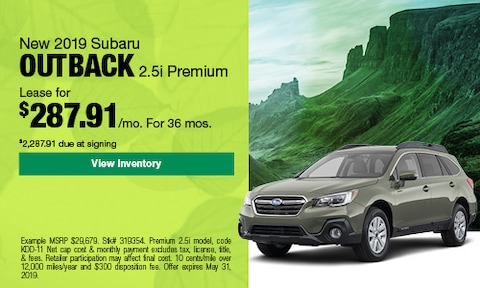 May 2019 Outback Lease Offer