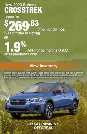 May New 2020 Subaru Crosstrek Offers