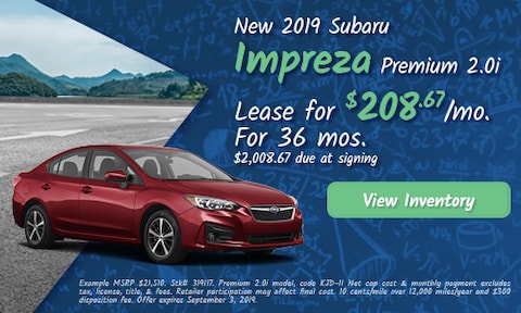August 2019 Impreza Lease Offer