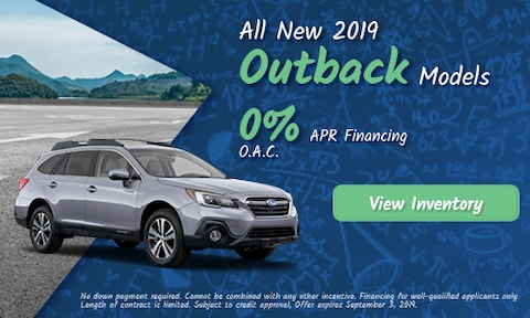 August 2019 Outback Finance Offer