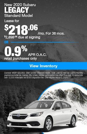 February 2020 Subaru Legacy