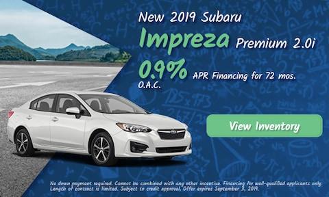 August 2019 Impreza Finance Offer
