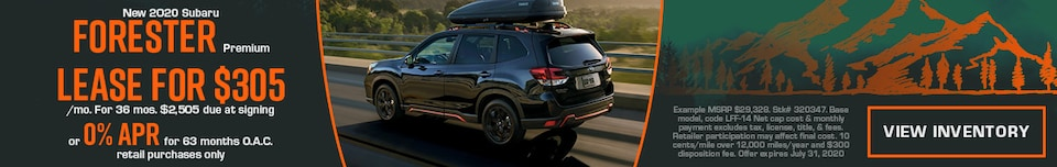 July New 2020 Subaru Forester Premium Offers