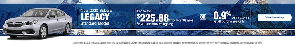 January New 2020 Subaru Legacy Standard Model Offers