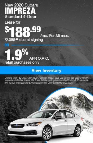 February 2020 Subaru Impreza