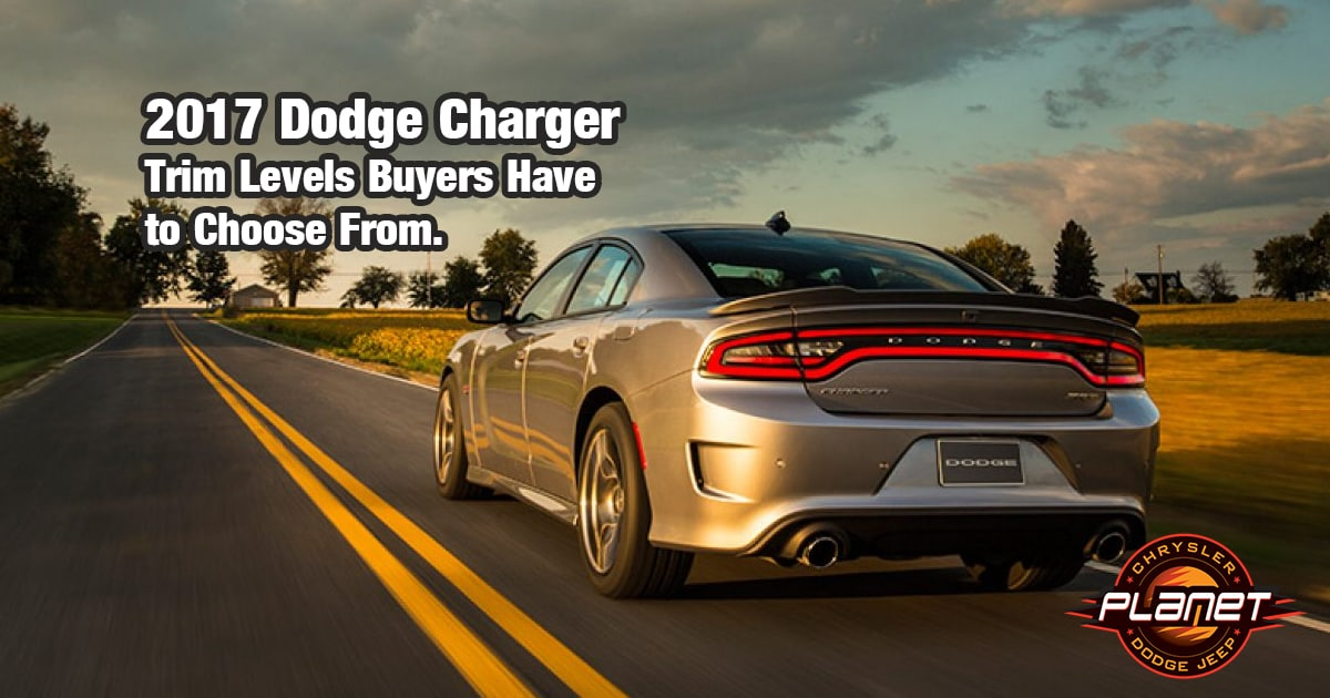 2017 Dodge Charger Trims