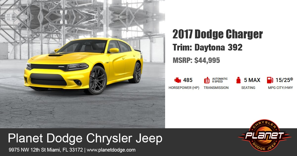 Dodge 2017 Charger Daytona 392