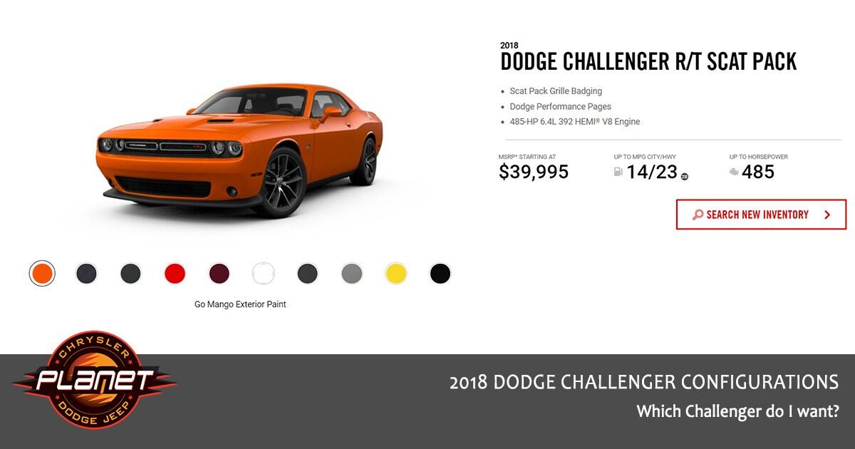 2018 Dodge Challenger Configurations - R/T Scat Pack