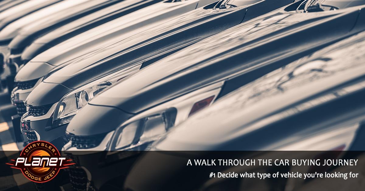 Walk Through Car Buying Journey - Decide on Vehicle