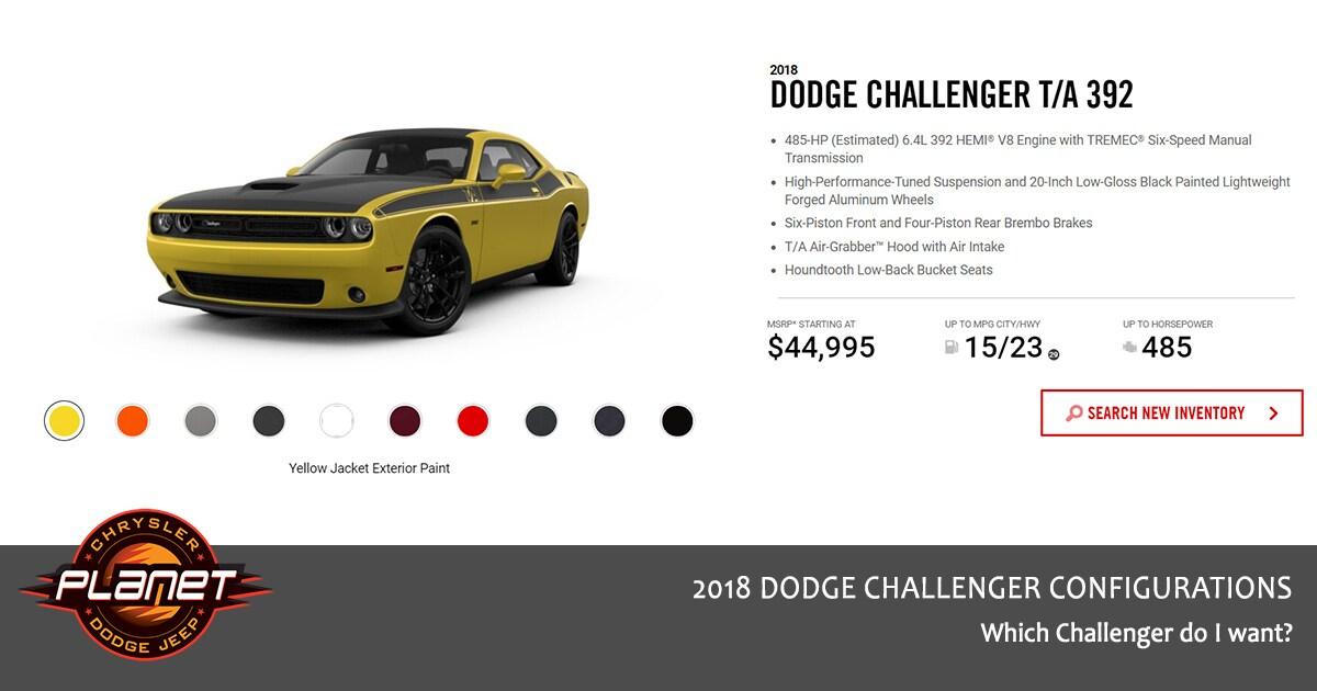 2018 Dodge Challenger Configurations - T/A 392