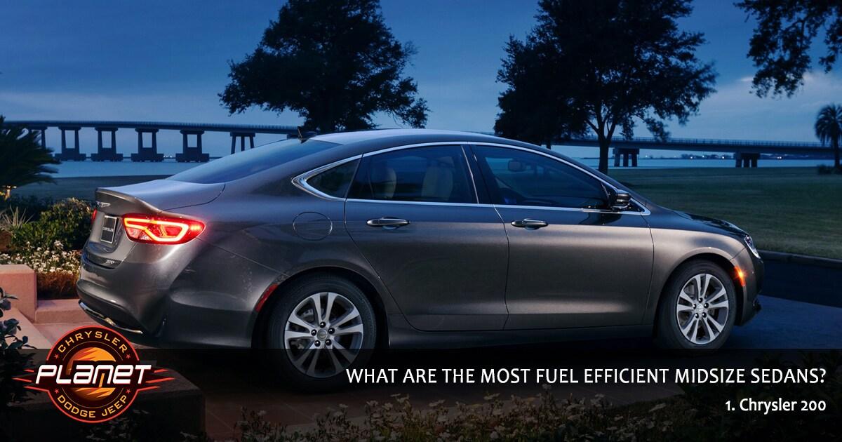 Most Fuel Efficient Sedans - Chrysler 200