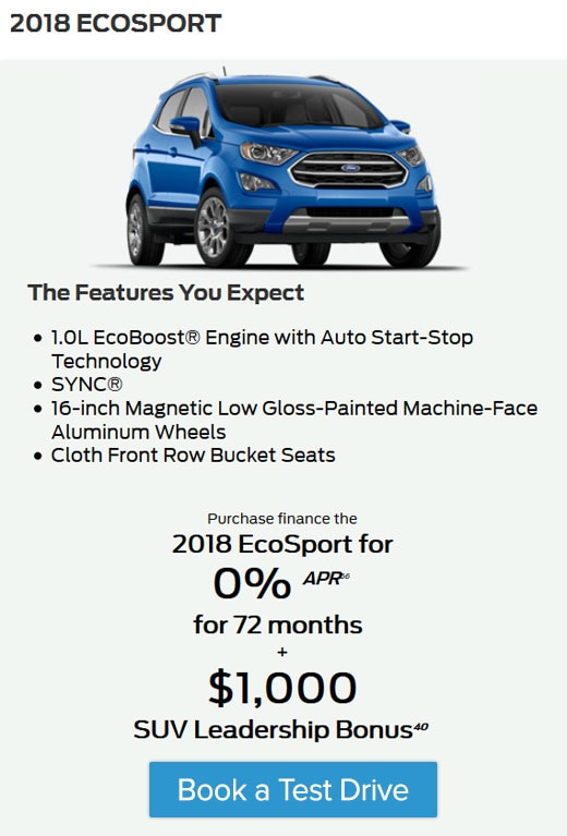 The Best Deals on the New Ecosport