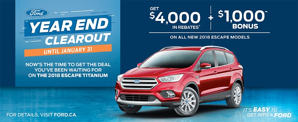 Year-End Clearout on the Ford Escape