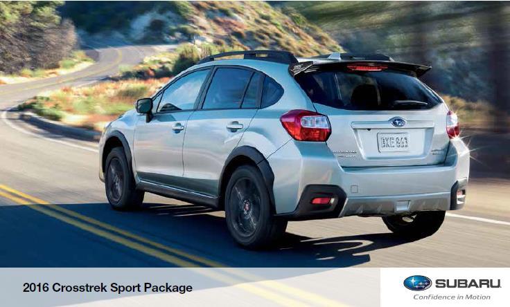 Subaru crosstrek 2016 colors