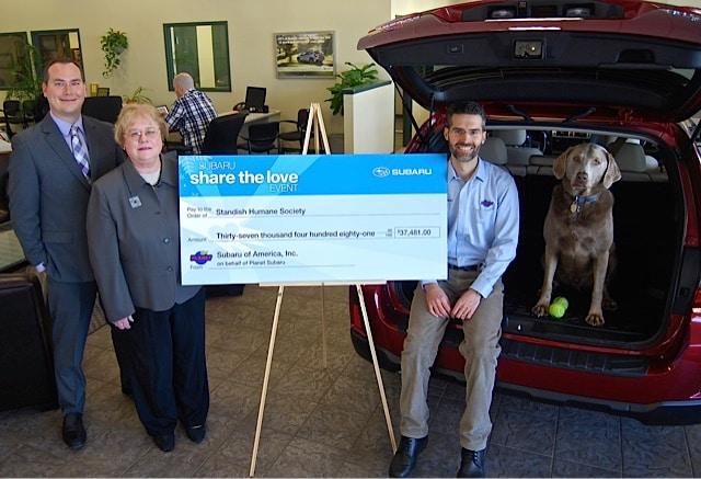 Boston Subaru Dealer Standish Humane Society Planet Subaru Hanover Massachusetts