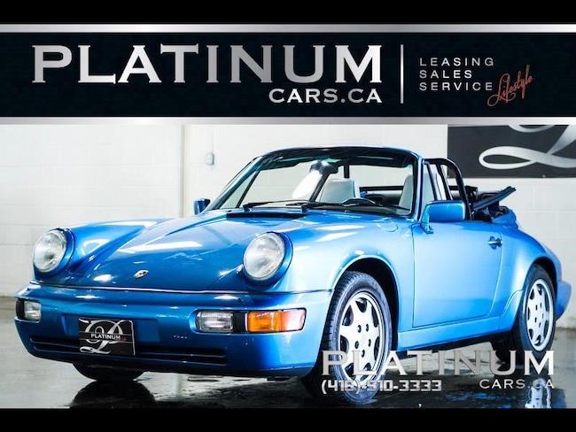 1991 Porsche 911 CARRERA 4 CABRIOLET, ONLY 24818KM, SOFT TOP Convertible