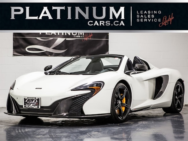 2015 Mclaren 650S SPIDER, CARBON EXT & INTERIOR PKG, CERAMIC BRAKES Convertible