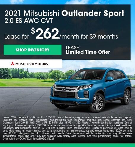 2021 Mitsubishi Outlander Sport (lease)