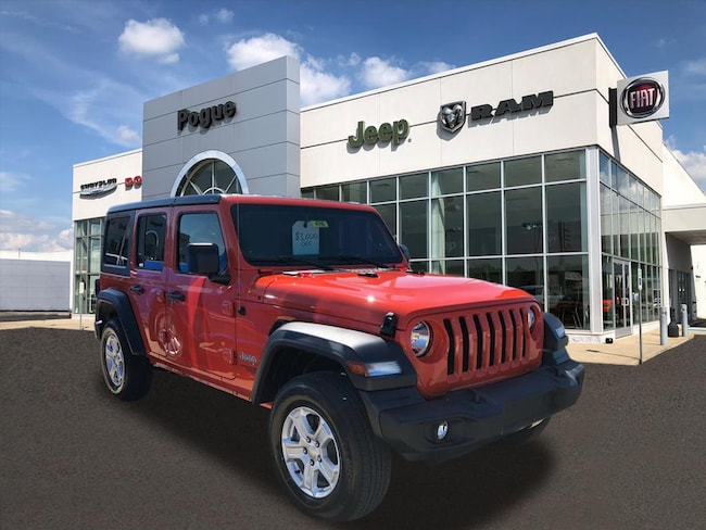 New 2018 Jeep Wrangler UNLIMITED SPORT S 4X4 Sport Utility For Sale/Lease Powderly, KY
