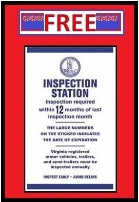 *****  FREE VA STATE INSPECTION *****