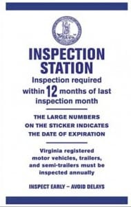 Free Virginia State Inspection .