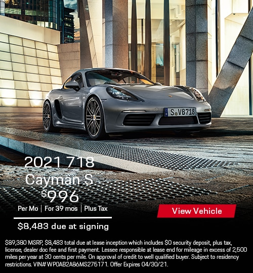 2021 718 Cayman S Coupe