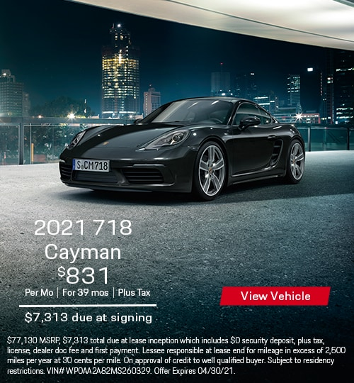 2021 718 Cayman Coupe