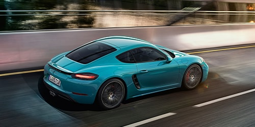 Bright Blue Porsche 718 Cayman