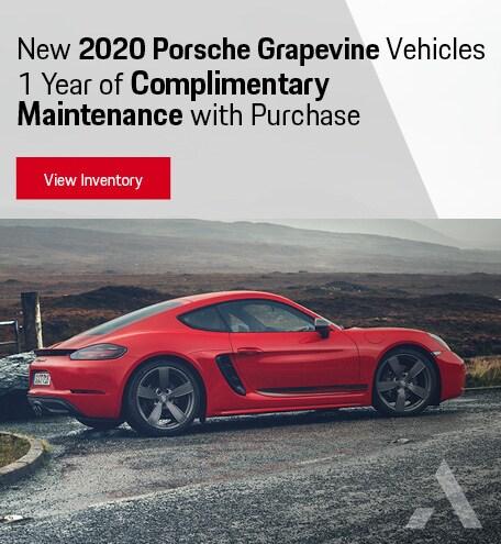 Complimentary Maintenance On New Porsche