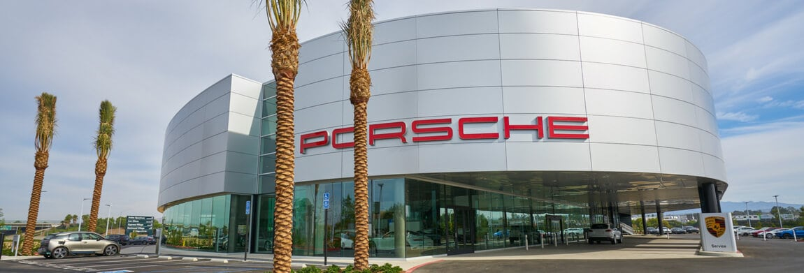 Exterior view of Porsche Irvine during the day