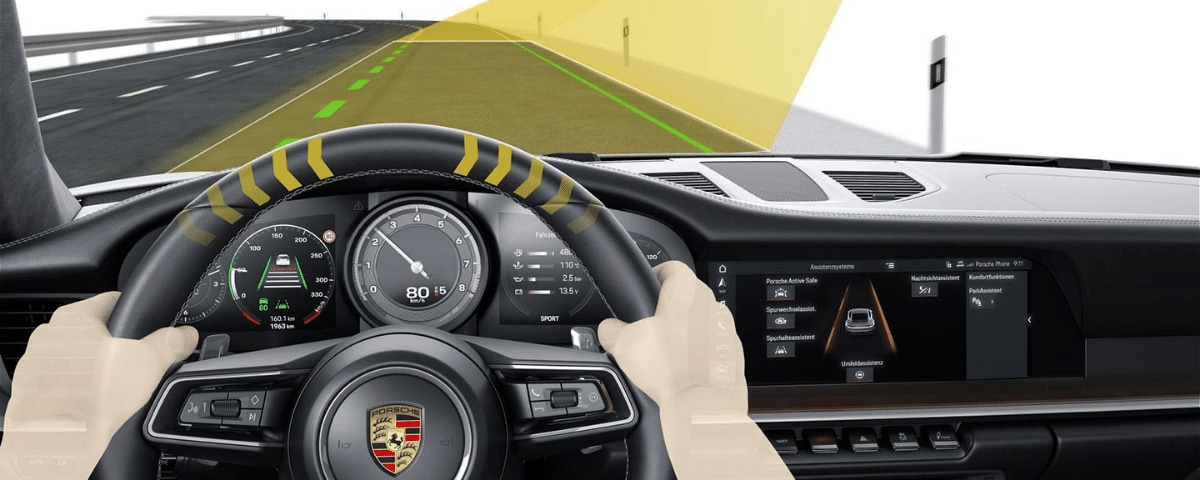 Porsche Lane Keep Assist technology