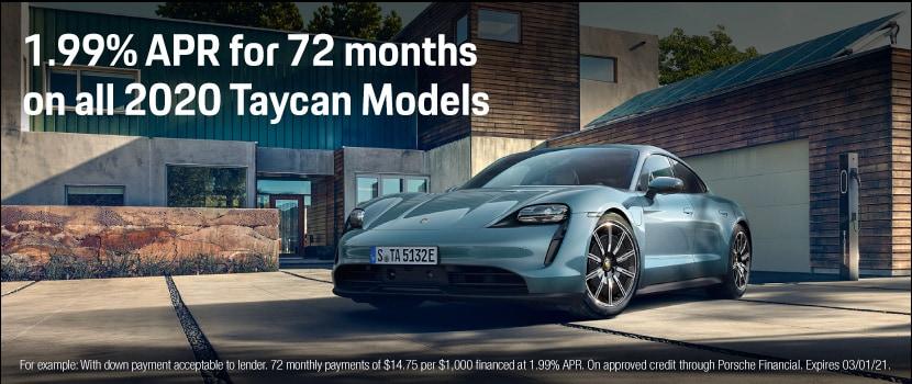 1.99% APR for all 2020 Taycan Models LT