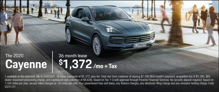 New 2020 Porsche Cayenne Lease for $1,372 per month for 36 months