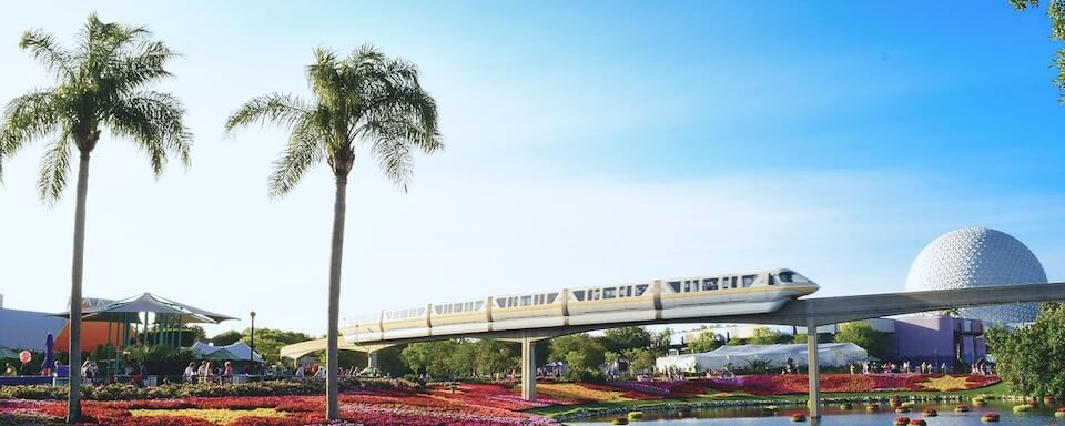Disney World and monorail in Orlando