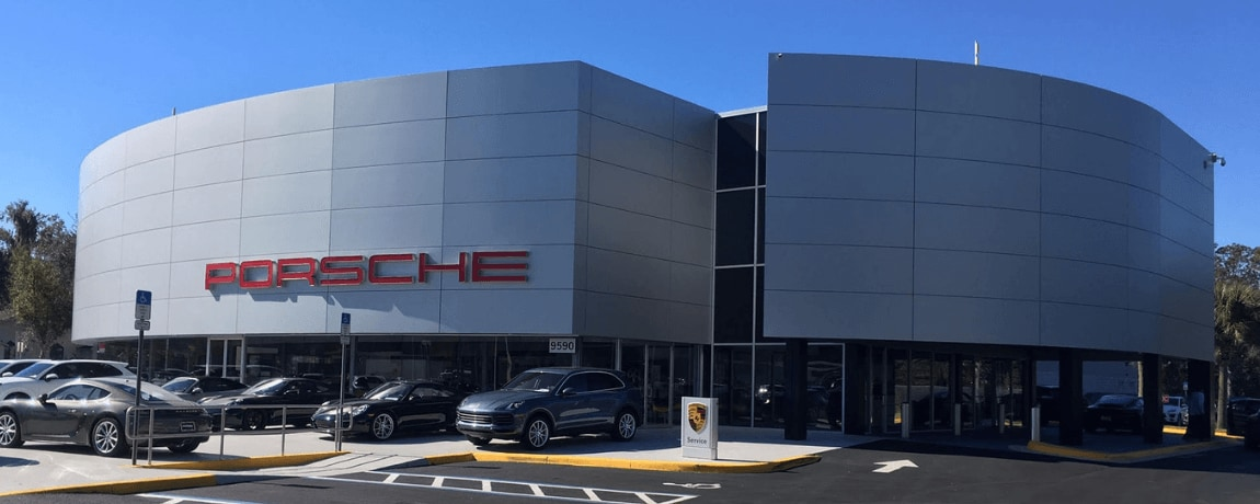 Exterior view of Porsche Orlando service center