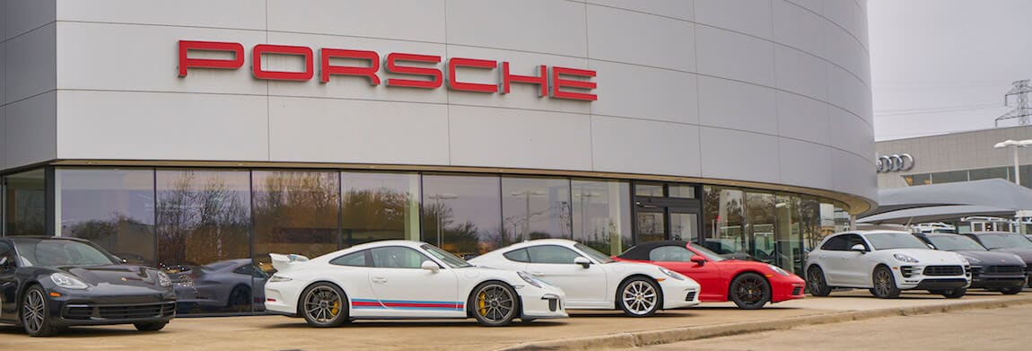 Exterior view of Porsche Plano during the day