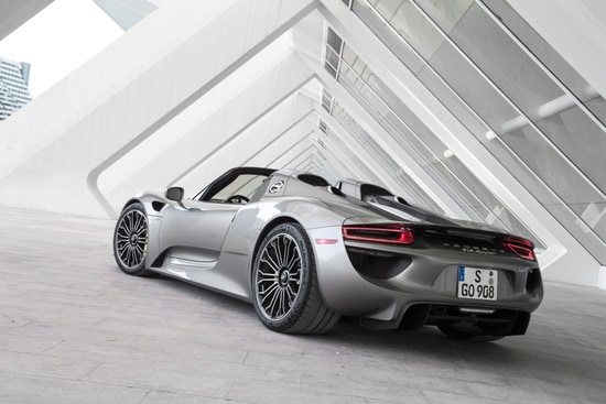 to achieve a harmonious blend of fierce speed and agile efficiency the porsche 918 spyder is equipped with a 46 l v8 engine under the hood which is then